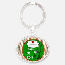 nurse ornament class of 15 Oval Keychain