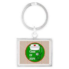 nurse ornament class of 15 Landscape Keychain