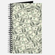 100 Dollar Bill Money Pattern Journal