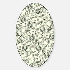 100 Dollar Bill Money Pattern Decal