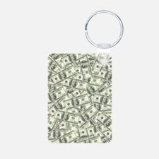 100 Dollar Bill Money Patt Keychains