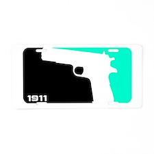 1911 Gun Shirt Aluminum License Plate