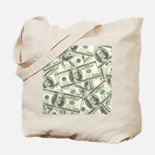 100 Dollar Bill Money Pattern Tote Bag