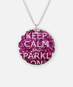 Keep Calm and Sparkle On Necklace