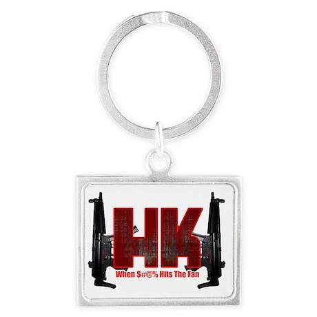 HK- When $#^% Hits The Fan Landscape Keychain