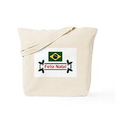 Brazil Feliz Natal Tote Bag