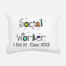 social worker graduation Rectangular Canvas Pillow