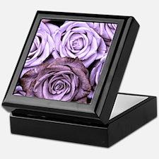 Mauve Roses Keepsake Box