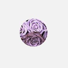 Mauve Roses Mini Button