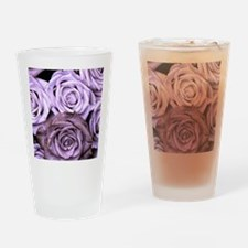 Mauve Roses Drinking Glass