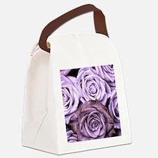 Mauve Roses Canvas Lunch Bag
