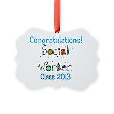 social worker grad congrats Ornament