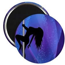 Pole Dancing Stripper - Purple Magnet
