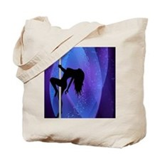 Pole Dancing Stripper - Purple Tote Bag