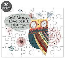 Owl Always Love Jesus Owl Puzzle