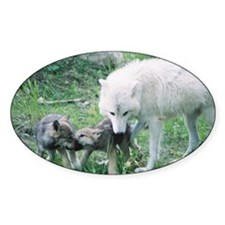 """""""Mother Wolf With Two Cubs"""" Decal"""