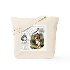 The White Rabbit Alice in Wonderland Mous Tote Bag