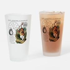 The White Rabbit Alice in Wonderlan Drinking Glass