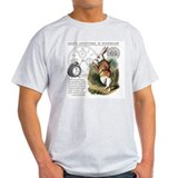 Alice in wonderland Mens Light T-shirts