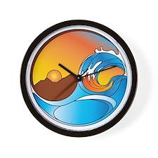 Orange County DotCom Yin Yang Logo Wall Clock