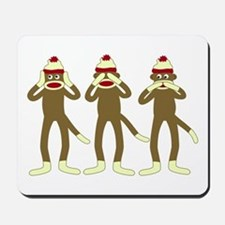Hear, See, Speak No Evil Sock Monkeys Mousepad