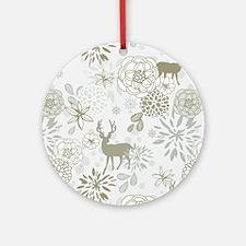 Deer Round Ornament