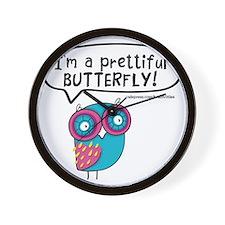 Im a prettiful butterfly Wall Clock