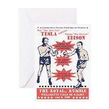 tesla-v-edison-LTT Greeting Card