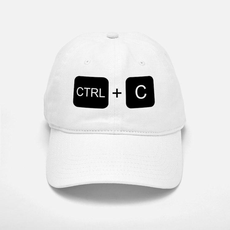 CTRL + C Baseball Baseball Cap