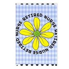 retired nurse gingham Postcards (Package of 8)