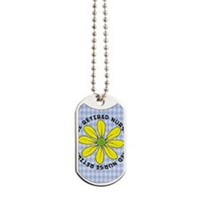 retired nurse gingham Dog Tags
