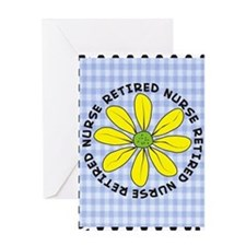 retired nurse gingham Greeting Card