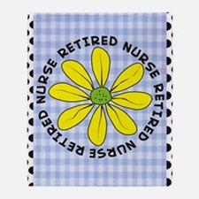 retired nurse gingham Throw Blanket