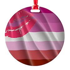 LESBIAN PRIDE FLAG Ornament