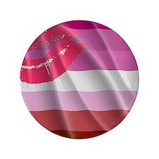 """LESBIAN PRIDE FLAG 3.5"""" Button"""