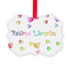 Retired Librarian HEARTS Ornament