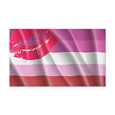 LESBIAN PRIDE FLAG Rectangle Car Magnet