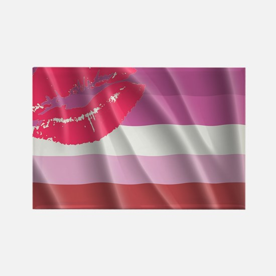 LESBIAN PRIDE FLAG Rectangle Magnet