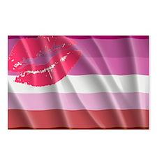 LESBIAN PRIDE FLAG Postcards (Package of 8)