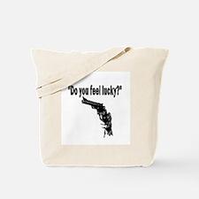 DO YOU FEEL LUCKY (GUN) Tote Bag