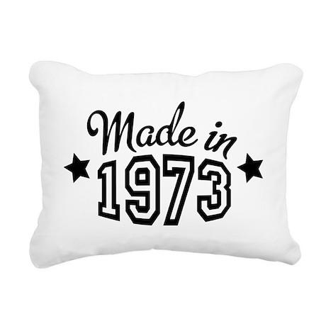 Made in 1973 Rectangular Canvas Pillow