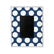 Navy Blue Polkadot Picture Frame