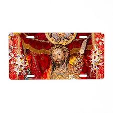 Santo Cristo Aluminum License Plate
