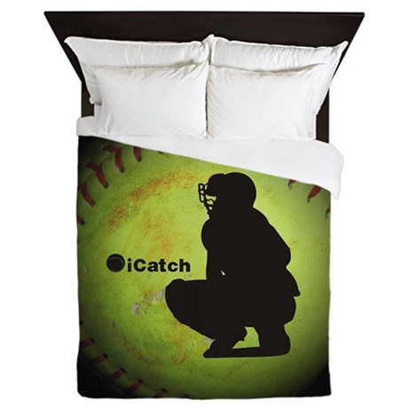 Icatch Fastpitch Softball Queen Duvet