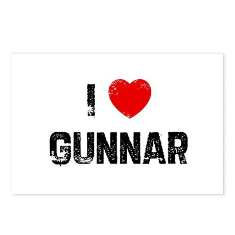 I * Gunnar Postcards (Package of 8)