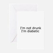Diabetic Info Greeting Cards (Pk of 10)