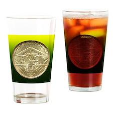 Arkansas Centennial Half Dollar Coi Drinking Glass
