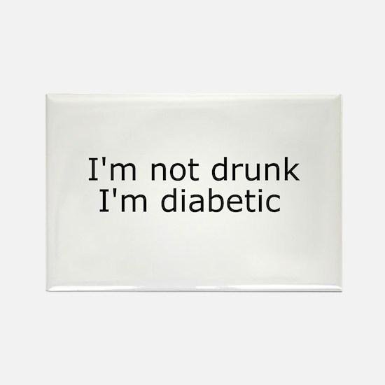 Diabetic Info Rectangle Magnet