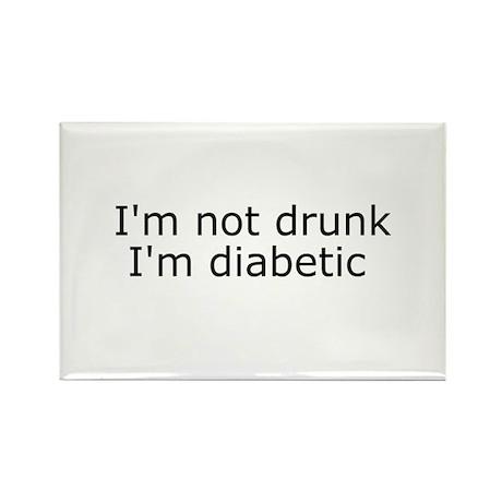 Diabetic Info Rectangle Magnet (100 pack)