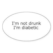 Diabetic Info Oval Decal
